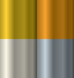 Set of textures on precious metals gold and silver vector image