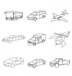 sketchy cargo vector image vector image