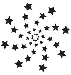 Spiral stars vector image