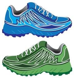 Sport shoes couple vector