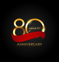 Template 80 years anniversary vector