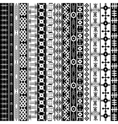 Texture with ethnic geometrical ornaments black vector image