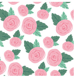 White background with colorful pattern of rose vector