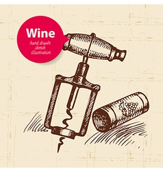 Wine vintage background with banner vector