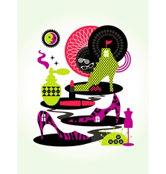 Women Fashion Concept vector image