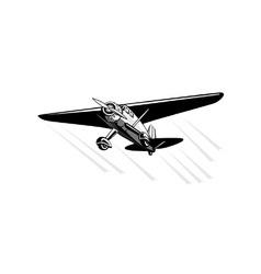 Propeller Airplane Retro vector image