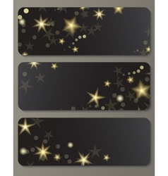 Banners with shiny stars vector