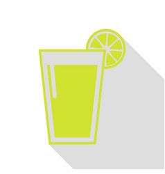 glass of juice icons pear icon with flat style vector image
