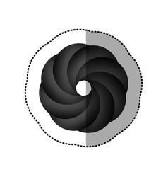 Contour focus lents professional camera icon vector