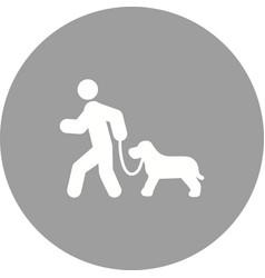 Walking dog vector