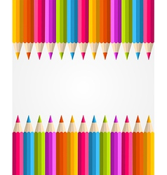 Rainbow colorful pencils banner pattern vector
