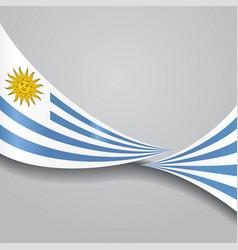 uruguayan wavy flag vector image