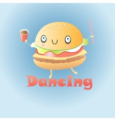Funny burger vector