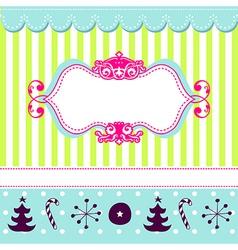 Cheerful Christmas card vector image