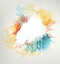 Background with colored blots vector