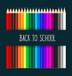 Welcome back to school with colour pencils vector