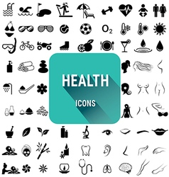 Set of health icons vector