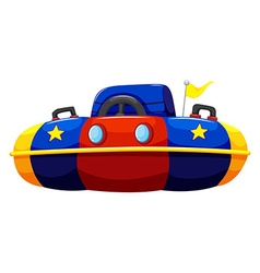 Single bump car with flag vector