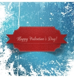 Valentines day realistic paper red label vector