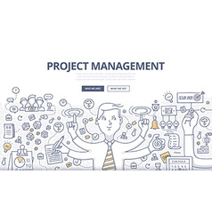 Project management doodle concept vector