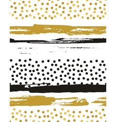 Seamless pattern with gold foil circles background vector