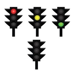 Traffic lights 2 vector