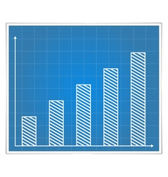 Blueprint bar graph vector