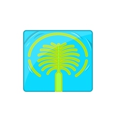 Artificial islands in uae icon cartoon style vector