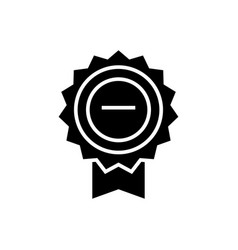 award base icon black sign vector image