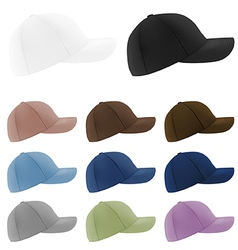 Baseball hats template vector image