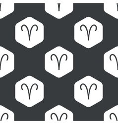Black hexagon aries pattern vector