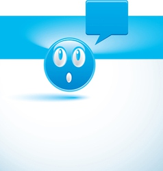 Blue background with smiley vector