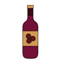 bottle wine isolated icon vector image