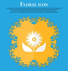 Bouquet of flowers with petals icon sign floral vector