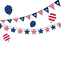 Bunting pennants for Independence Day USA vector image vector image