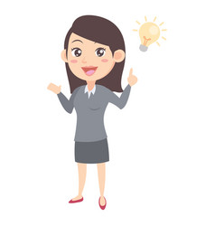 Business women with idea character vector