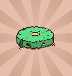 Cartoon cute cookie vector
