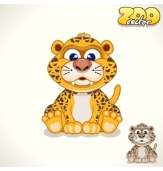 Cartoon leopard character vector