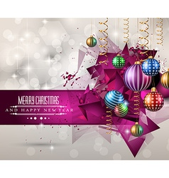 Christmas original modern background template for vector image vector image