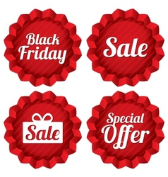 Colorful black friday sale special offer labels vector image