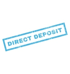 Direct deposit rubber stamp vector