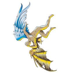 fallen angel vector image