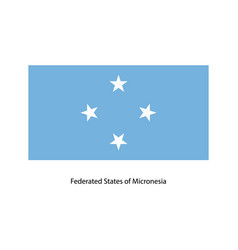 Federated states of micronesia flag vector