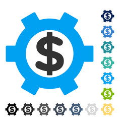 financial settings icon vector image