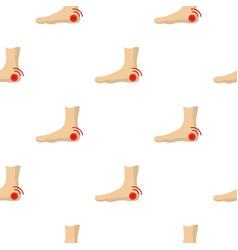 Foot heel pattern seamless vector