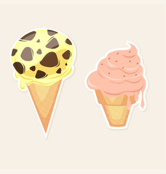 ice cream set price list with a set of balls of vector image