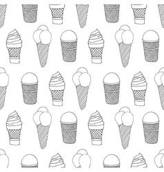 monochrome icecream vector image
