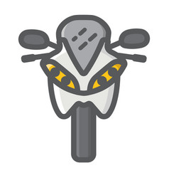 motorcycle filled outline icon transport vehicle vector image
