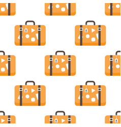 pattern with travel bags vector image vector image