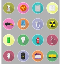 power and energy flat icons 19 vector image
